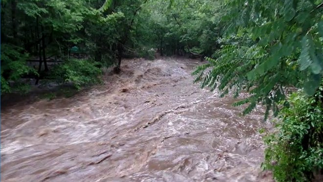 Visitors from196 campsites in the Elkmont Campground were evacuated Thursday, June 28, 2018, and relocated to the Sugarlands Visitor Center until further notice due to flooding.