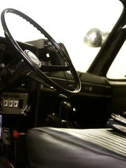 The interior of the mini-pumper as seen Wednesday.