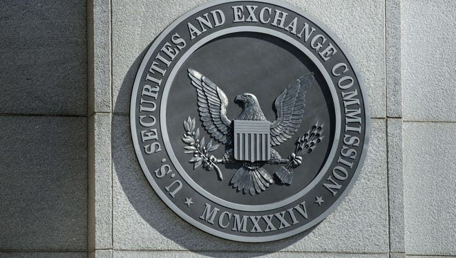 The Securities and Exchange Commission's seal outside the federal regulator's Washington, D.C., headquarters.