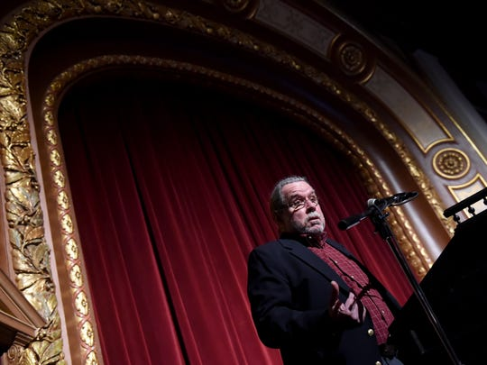 """Senior Judge Harold """"Tut"""" Woelfel talked about his own struggles with alcohol as the guest speaker at the York County treatment courts graduation ceremony held at the Strand-Capitol Performing Arts Center on Thursday, Dec. 1."""