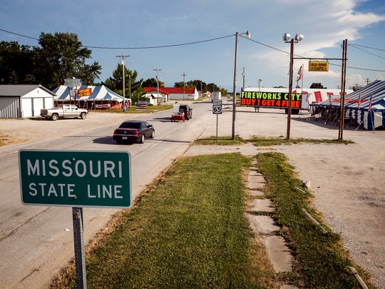 The city of Lineville, Iowa, and South Lineville, Missouri, is a small town split by the state line.