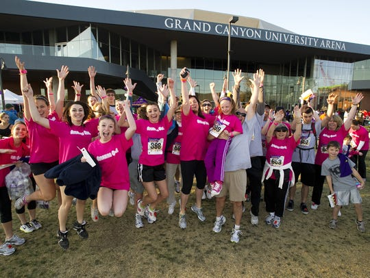 Participants celebrated during the second annual Run