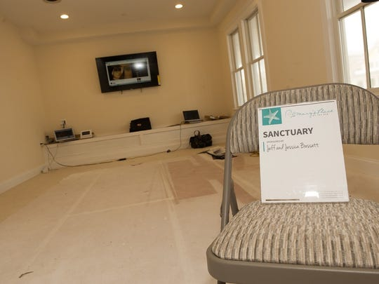 One of the rooms in the expanded Mary's Place by the Sea in Ocean Grove.