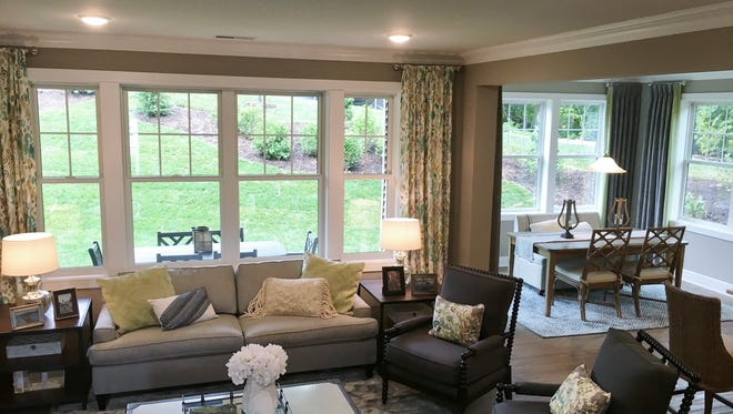 The furnished Charhouse model at Mariner's Pointe on Lake Hopatcong gives prospective buyers a good idea of the resortlike lifestyle they will enjoy here.