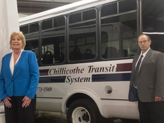 City Transit Director Donna Schinkle, left, and City
