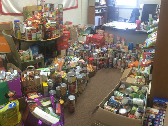 South High School's Student Council held a food drive