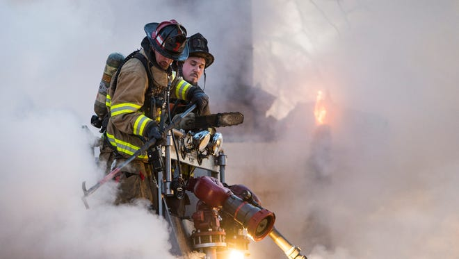 Fire crews battled a house fire at 310 Quittie Park Drive in South Annville Township early morning on Saturday, March 4, 2017. This was the second time in fewer than 24 hours that fire crews were called to a fire at 310 Quittie Park Drive. Crews were dispatched around 1 p.m. on Friday, March 3, for a dwelling fire, too.
