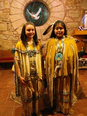 Mescalero Apache maidens attended the Christmas Eve Mass..