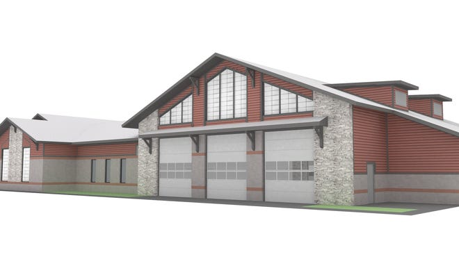 This rendering shows what Fire Station 11 will look like when it opens in summer 2019 on the northwest corner of Blaze Drive and Fortress Boulevard.