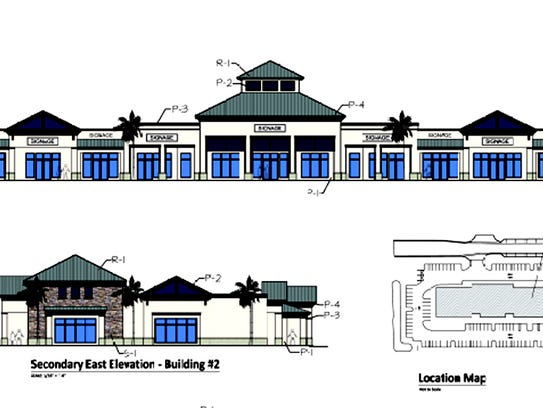 Architectural renderings of the first building proposed