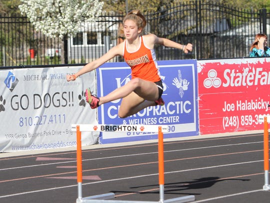 Brighton's Kennedy Smith had the fastest 300-meter