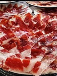 The specialty ham from Spain, jamón ibérico de bellota,