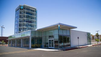 Carvana, a unique car-vending machine and online automotive retailer, is opening at Rural Road and the Loop 202 in Tempe.  Cars are stacked in a transparent tower and are brought down to ground level by machines after a buyer puts a coin in a receptacle.