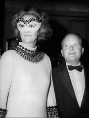 Truman Capote with Katherine Graham, the late president