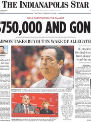 The Indianapolis Star front page on Feb. 22, 2008,