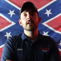 "Andy Hallinan says his gun shop in Inverness, Fla., is a ""Muslim-free zone."""