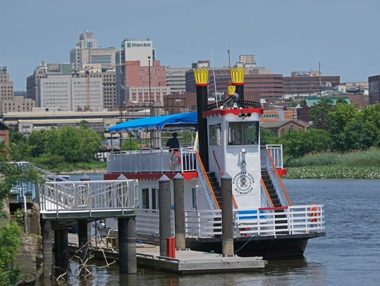 Wilmington's Riverboat Queen sits docked on the Christina