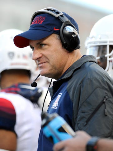 Arizona coach Rich Rodriguez turned to the spread offense