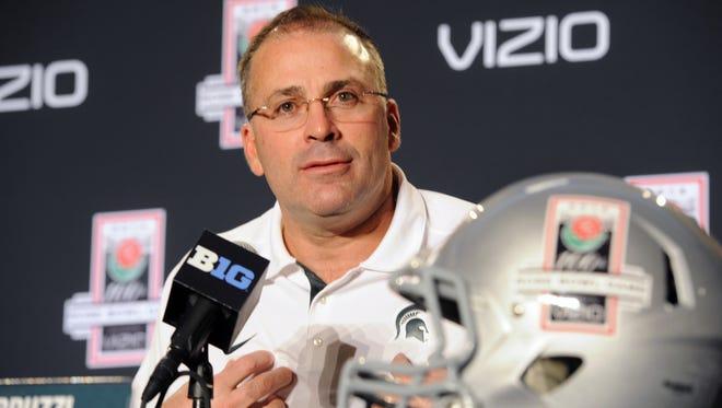 MSU defensive coordinator and assistant head coach Pat Narduzzi.