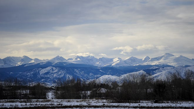 Snow covers the Front Range on Jan. 1