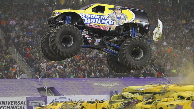 The Monster Jam truck Bounty Hunter and its driver, Trent Montgomery, will make an appearance with his 10,000-pound truck at 2 p.m. Thursday, Jan. 22, at Cell Phone Repair of Spartanburg.