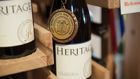 Award winning wines at Heritage Winery in Mullica Hill.