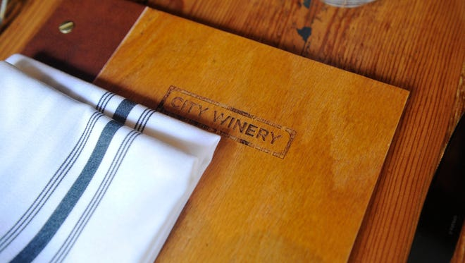 A place setting at City Winery downtown Nashville, Tenn. February 2, 2015.