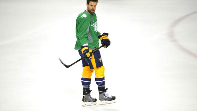 Defensemen Shea Weber missed his first game of the season against the Capitals.
