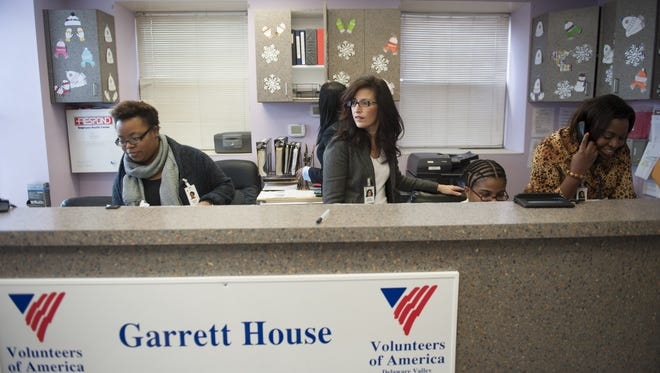 Staff members work at the Garrett House, a residential community release program for adult female offenders in Camden run by Volunteers of America. VOA has won a $6.3 million tax break to move its  headquarters from Collingswood to Camden.