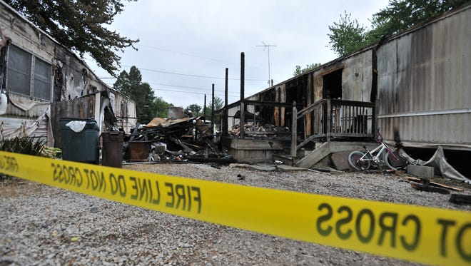 A house trailer fire early Sunday morning on Shell Beach Road at Fairfield Beach has left a nine year old girl in the hospital. The fire damaged house trailers on both sides.
