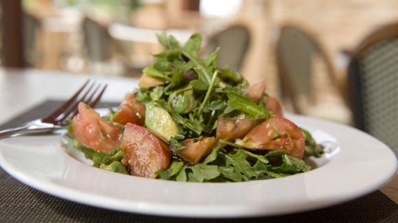 Seasons 52 at the Cherry Hill Mall offers a Jersey tomato and avocado salad.