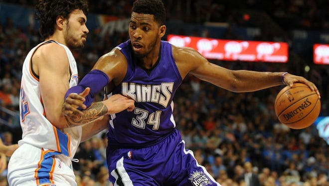 Jason Thompson, right, was traded to the Sixers earlier this month, but leaves before playing a game.