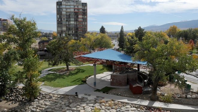 Wingfield Park in downtown Reno will be one of 12 parks to go pesticide free under a pilot program adopted by the Reno City Council.