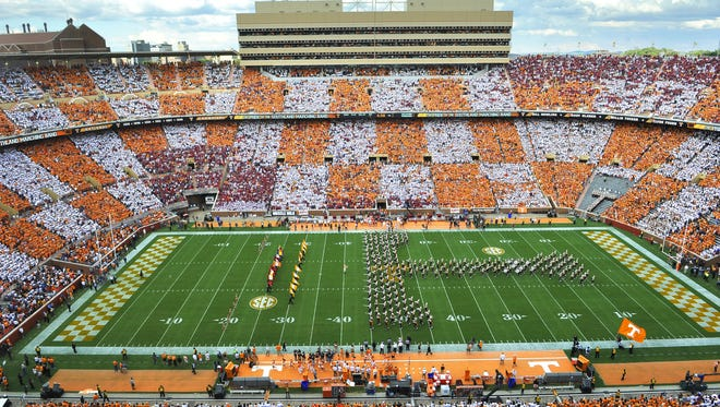 Neyland Stadium during the Tennessee vs Oklahoma game.