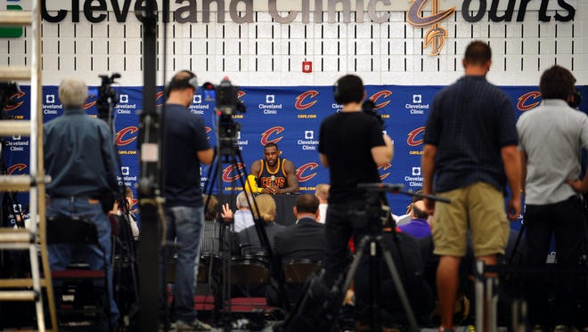 Cleveland Cavaliers forward LeBron James and the team will be live on Facebook as NBA TV will be streaming practice.
