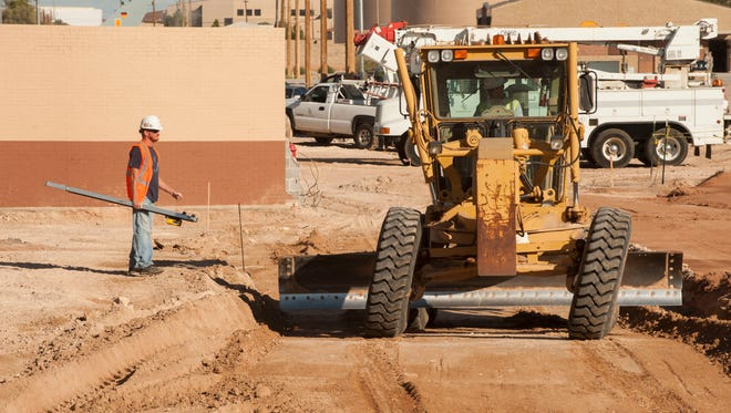 Construction workers prepare the foundation for a new medical clinic at Holloman Air Force Base on Sept. 19. The 49th Medical Group began construction in July to replace their 44-year-old facility and consolidate services from five outlying buildings. The new medical clinic is expected to be completed by November 2017.