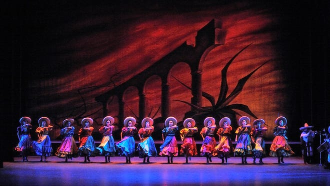 The world-renowned Ballet Folklórico de México de Amalia Hernández is set to perform at 7 p.m. Sunday at the Plaza Theatre in Downtown El Paso.