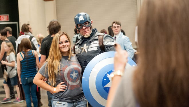 Cosplayers from around the area attended Lafayette's first Comic-Con yesterday at the Cajun Dome Convention Center. The event attracts fan of comics, movies, and anime.