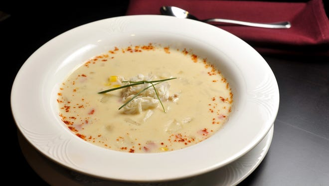 Crab and Corn Chowder at the University Club of Michigan State University  Wednesday  Sept. 28, 2011.