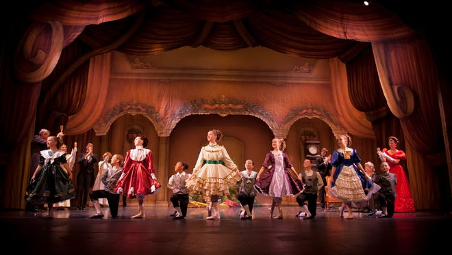 """A 2014 performance of """"The Nutcracker"""" by Springfield Ballet. Created in 2000, the Springfield Ballet's set for the Christmastime ballet is nearing the end of its lifespan. The ballet is raising funds and choosing a design for a new set this year."""