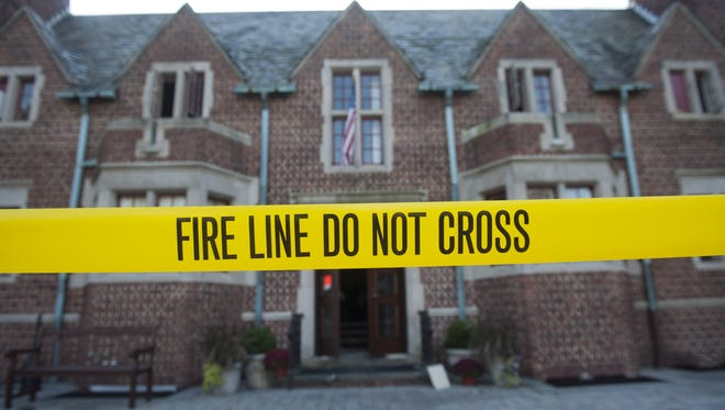 The Moorestown Community Center remains closed off Wednesday after a 2-alarm fire there Tuesday evening.