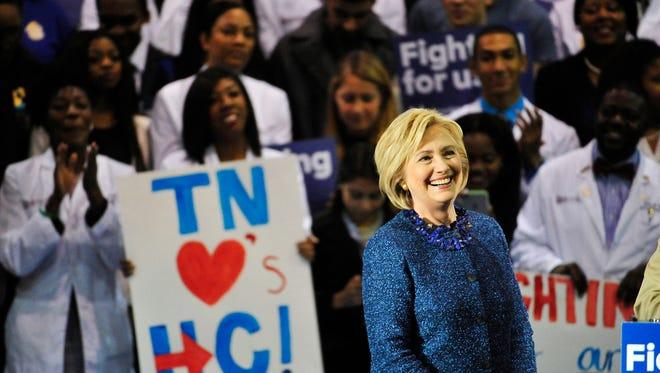 Hillary Clinton speaks Friday, Nov. 20, 2015, at Fisk University.