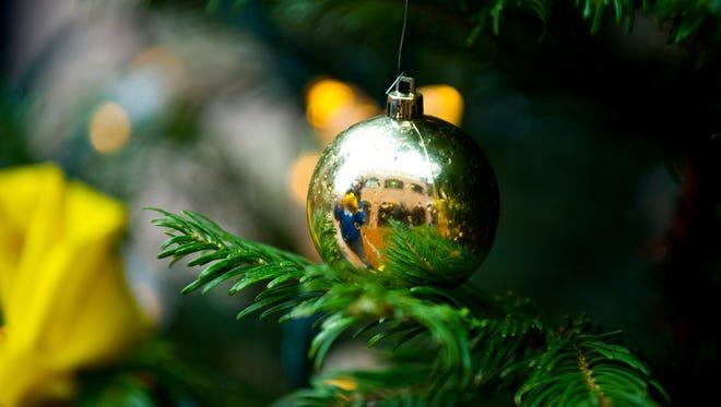 A Christmas ornament.