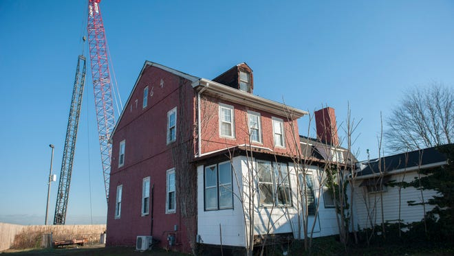 The Hugg-Harrison-Glover House in Bellmawr may soon meet the wrecking ball as part of the Direct Connection project to redo the interchange at I-295, I-76 and Route 42. Tuesday, November 24, 2015.