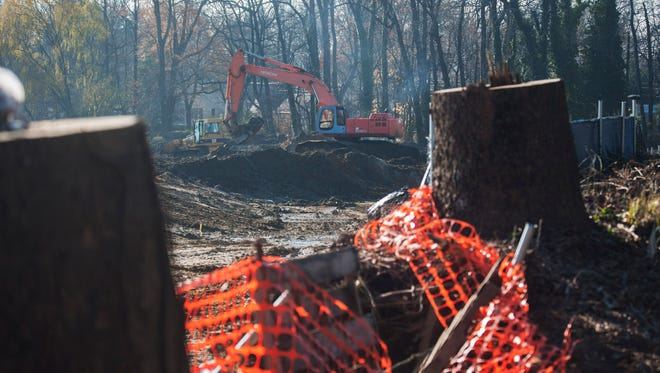 Construction continues at the site of the former Woodbury Country Club which was purchased by Burris Construction last year and slated to become a rehab facility. Tuesday, December 8, 2015.