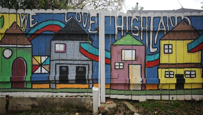 A mural in Shreveport's Highland neighborhood.