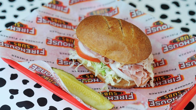 """The """"Hook and Ladder Light"""" sandwich at Firehouse Subs includes ham, turkey and cheese."""