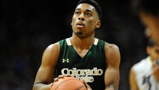 CSU's John Gillon shoots a free throw during a game last season in Boulder against the University of Colorado. Gillon has made 91.3 percent of his free throws this season, the top mark in the Mountain West and No. 7 nationally.
