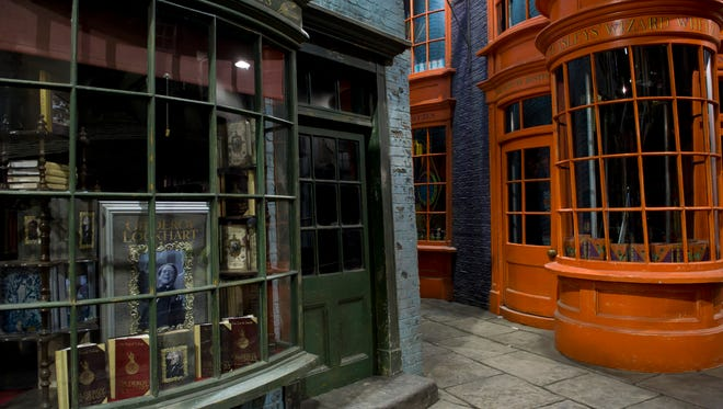 General views of the Harry Potter studio tour, Diagon Alley, at the Warner Brother Studios, London, Dec. 19, 2011.