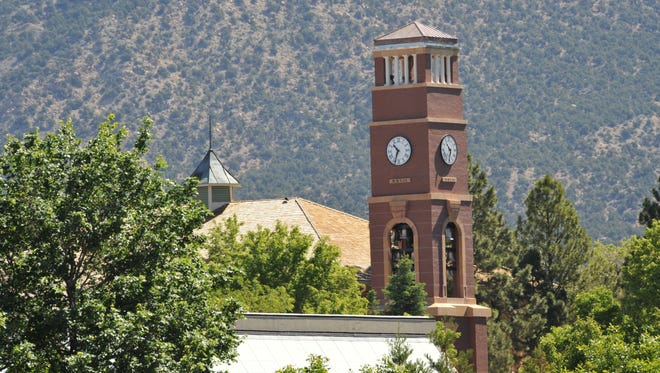 A view of the Carter Carillion clock tower at SUU in Cedar City.
